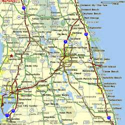 Orlando Highway Map by Central Florida Road Map Deboomfotografie