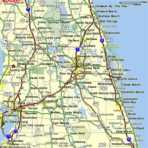 central florida map of central florida map2