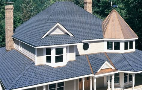 roofing a house certainteed carriage house shingles roof blue
