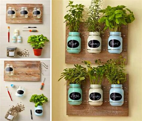 diy herb garden planter diy jar herb garden and herb ideas the whoot