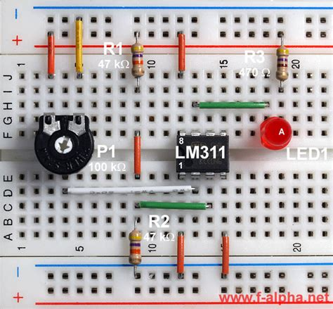 integrated circuit comparator f alpha net experiment 4 inverting comparator