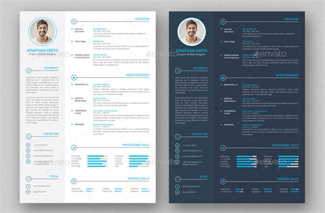 cv template graphic free download 21 best resume portfolio templates to download free wisestep