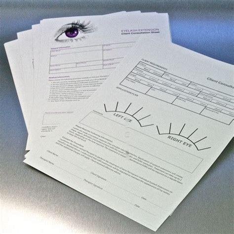 Eyelash Extensions Record Card Template by Eyelash Extension Consultation Sheets Lash
