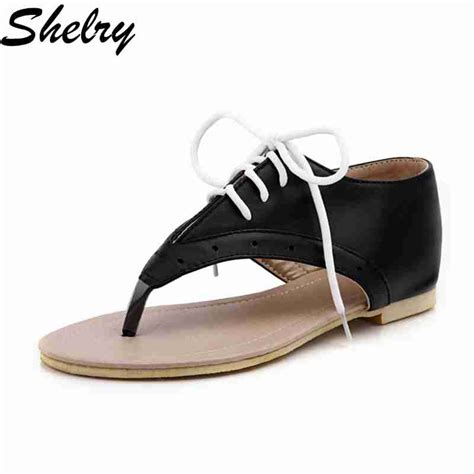 white lace up sandals shoes 2016 black white lace up flip flops summer