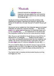 printable version of cinderella english teaching worksheets cinderella