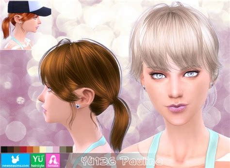 barbies stuffs hairstyles sims 4 hairs sims 4 hairs newsea yu 136 paulina hairstyle