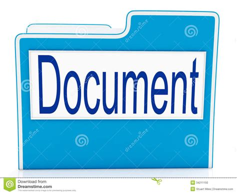Filing Documents Meaning document on file meaning organizing stock illustration