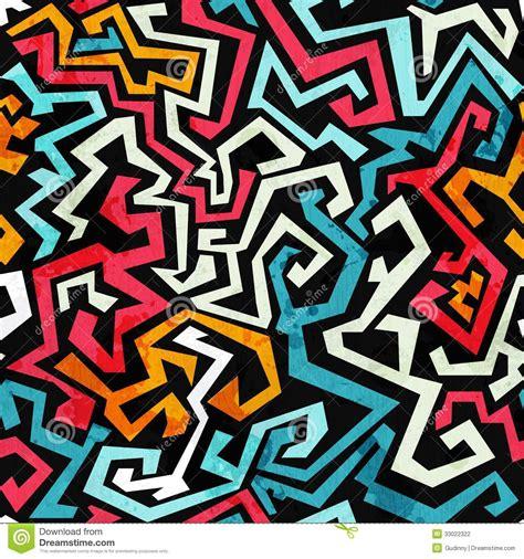 pattern graffiti artists graffiti curves seamless pattern with grunge effect stock