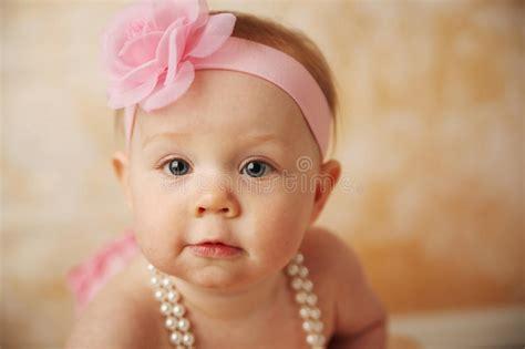 beautiful baby with flower headband stock image image beautiful baby stock image image of