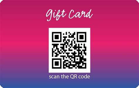 Qr Code Gift Card - plastic gift card with barcode