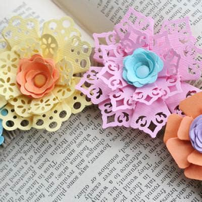 Paper Crafting - punched paper flowers paper crafting tip junkie