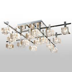 Dining Room Ceiling Light Fixtures by Aliexpress Com Buy Modern Luxury Striated Square Crystal