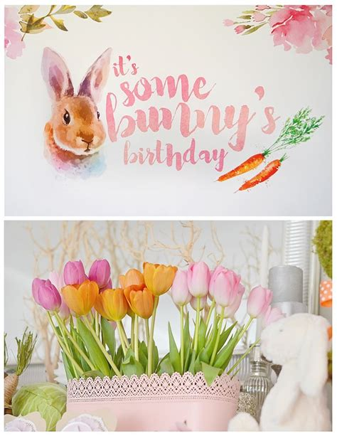 Bunny Birthday Decorations by Kara S Ideas Bunny Birthday Kara S Ideas