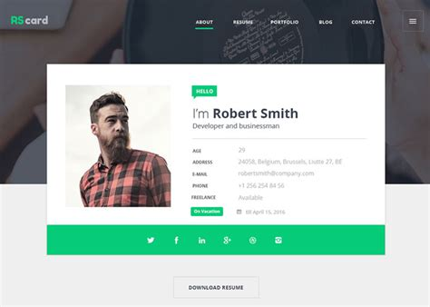 material design website maker material design resume cv portfolio nominee february