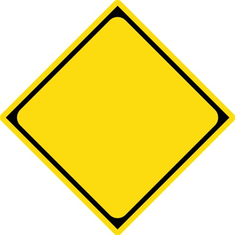 Blank Route Template Word White Gold Caution Sign Template