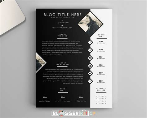 Media Kit Template by One Page Media Kit Template Press Kit Template By