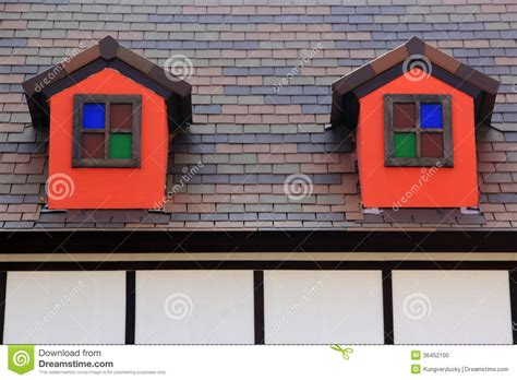 houses with small windows small windows on the roof stock photo image 36452100