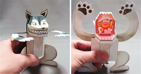How Make Paper Toys - japanese paper toys with a bored panda