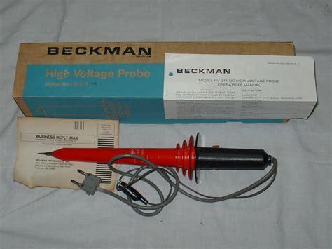 high voltage resistor divider probe eham net classifieds beckman hv 211 22 high voltage probe