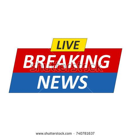 breaking news logo picture template banner live stream sign emblem logo vector stock vector 639776002