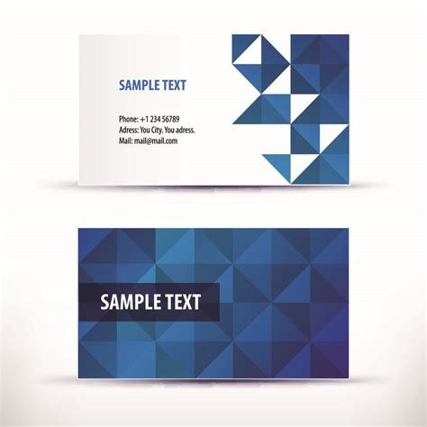 free visiting cards templates simple pattern business card template 04 vector free