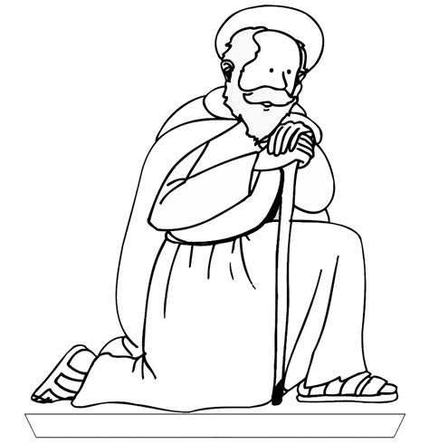 coloring pages of jesus in nazareth joseph free colouring pages