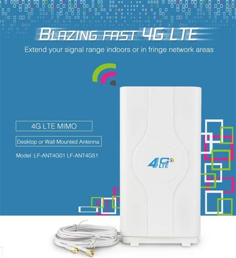 4g Lte Mimo External Antenna For Modem Routers lafalink sma connector mimo 4g lte panel antenna for huawei zte aircard 4g router modem network card