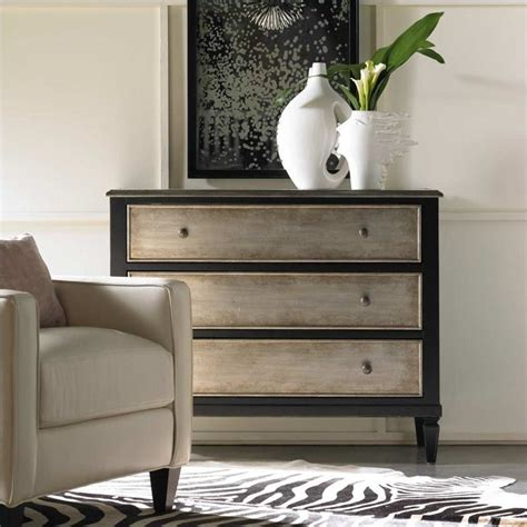 hooker furniture living room accents 3 drawer antique hooker furniture harbour pointe black three drawer accent