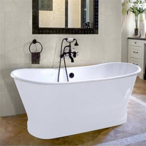 freestanding bathtubs cast iron cheviot balmoral 66 in double ended cast iron