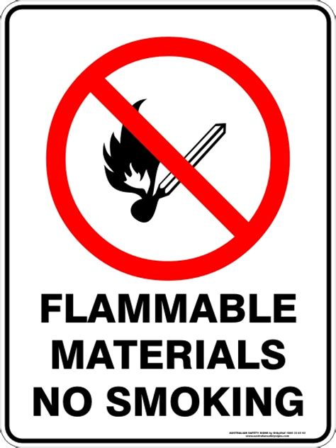 no smoking sign australia flammable materials no smoking discount safety signs