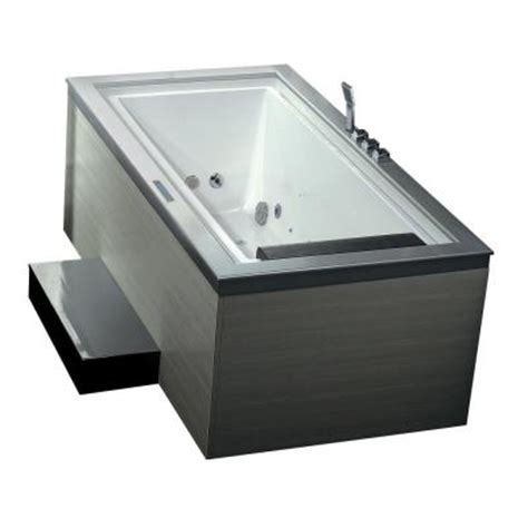 home depot whirlpool bathtubs ariel 6 ft whirlpool tub in white am146jdtsz l the home