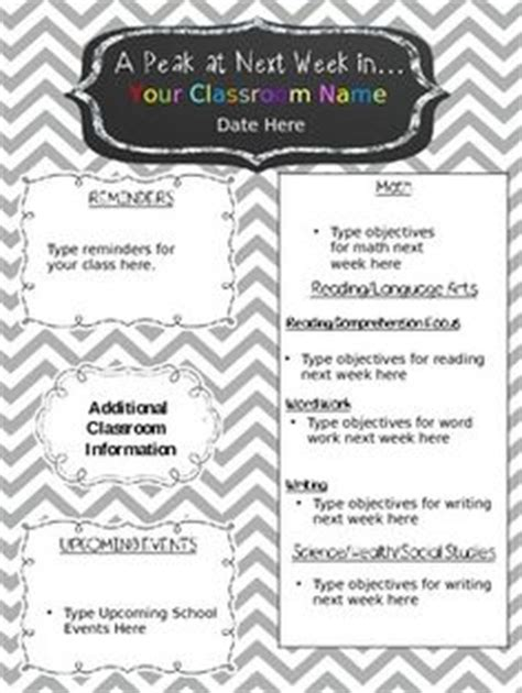 1000 Images About Classroom Organization On Pinterest Classroom Organizations And Calendar Free Editable Newsletter Templates For Teachers