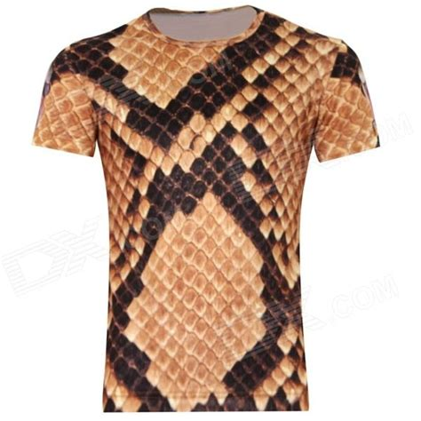 mens shirt pattern xxl laonongzhuang british style 3d cobra snakeskin t shirt for