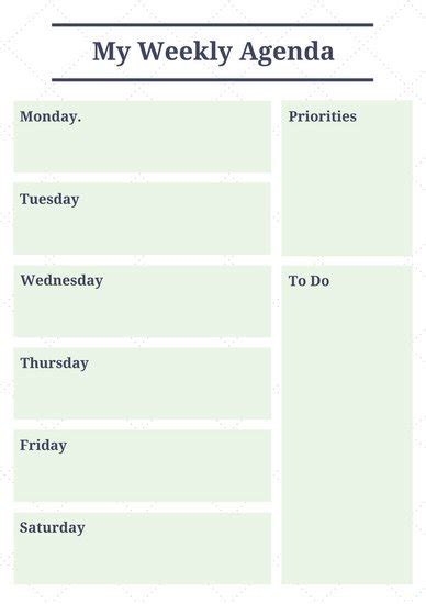 canva weekly planner customize 181 weekly schedule planner templates online