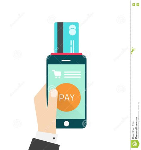 mobile payment software mobile payment vector illustration with phone