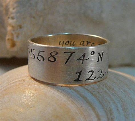 96 latitude longitude ring rings and things keepsake