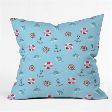 nautical necessities throw pillow 16x16 forest
