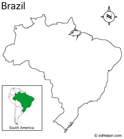 coloring page map of brazil brazil map to color