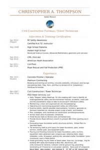 Concrete Worker Sle Resume by Concrete Finisher Resume Sles Visualcv Resume Sles Database