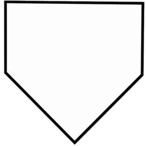 home plate softball home plate clipart