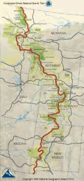 continental divide trail map us mappery