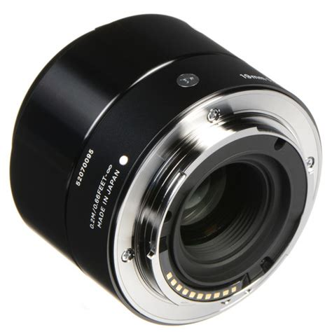Sigma Lens 19mm F by Sigma 19mm F2 8 Dn Lens For Sony E Mount Black