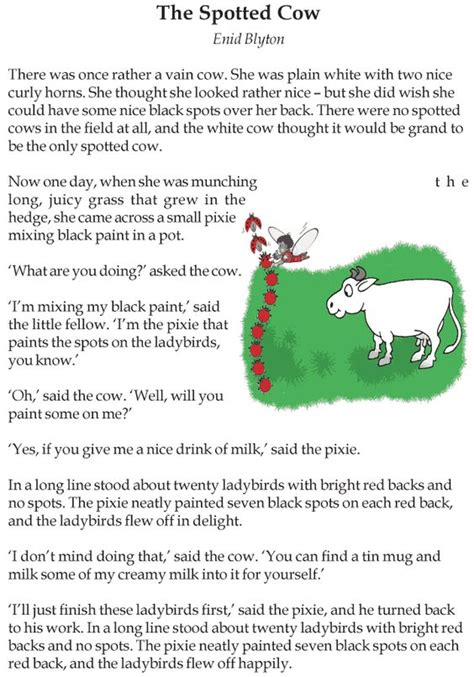 The Reading Lessons grade 3 reading lesson 3 stories the spotted cow