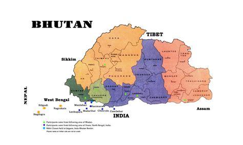 map of bhutan in world map maps of bhutan detailed map of bhutan in