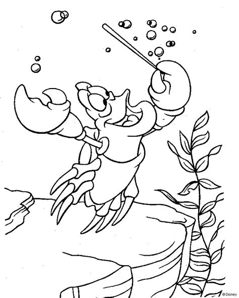 little mermaid sebastian coloring pages little mermaid coloring pages sebastian coloringstar