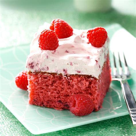 raspberry recipes raspberry cake recipe taste of home