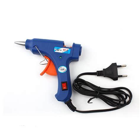 Glue Gun Pistol Lem Tembak 20w new 100 220v high temp heater melt glue gun 20w repair tool heat gun blue mini gun with