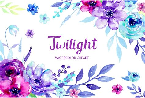 Watercolour Clipart watercolor clipart twilight illustrations creative market