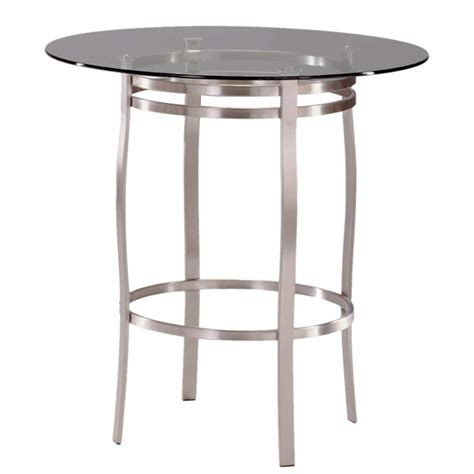 Bar Height Glass Top Table by Table Tops And Bases Porto Counter Height Glass Table By