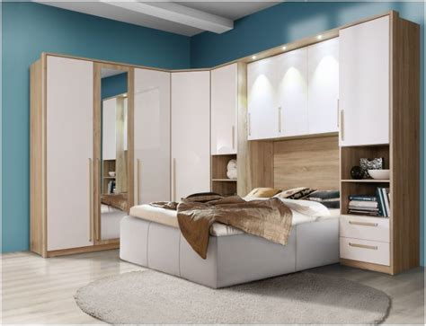 Bed Wardrobe Unit by Cologne Overbed Unit Wardrobe Bridge Bedroom Fitment White Gloss Furniture Ebay
